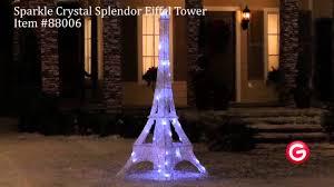 christmas decorations light show gemmy lightshow sparkle led yard decor 88006 eiffel tower