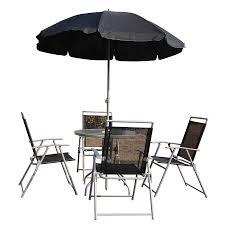 Aluminum Patio Umbrella by Outsunny 6pc Outdoor Patio Umbrella Set Garden Bistro Yard