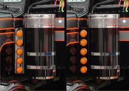 peterbilt air cleaner lights air cleaner light bars 12 gauge custom