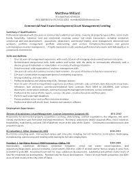 Commercial Real Estate Resume Commercial Property Manager Resume Samples Elegant Resume Format