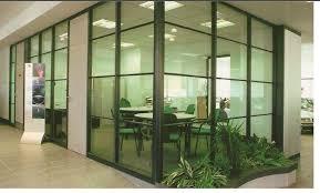 bureau vitre bureau de verre aluminium des murs en verre de partition partition