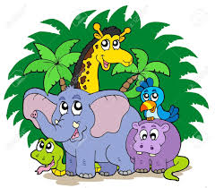 group of zoo animals clipart clipartxtras