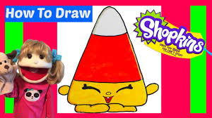 how to draw shopkins mandy candy corn step by step easy halloween