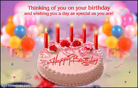 Birthday Day Cards Thinking Of You On Your B Day Free Happy Birthday Ecards 123