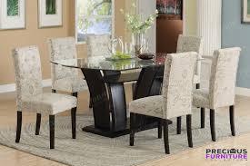 f2153 set 7 piece rectangular glass top dining table set