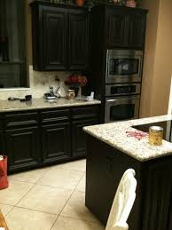 Kitchen Cabinet Varnish by Staining Kitchen Cabinets Darker Rustic Brown Varnished Oak Wood