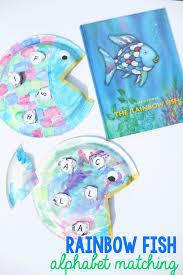 rainbow fish alphabet matching craft teach child