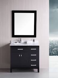 London Single Bath Vanity Style  Espresso - Bathroom vaniy 2