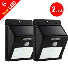 Solar Security Motion Sensor Light by Amazon Com Solar Lights Agptek Solar Powered Wireless 6 Led
