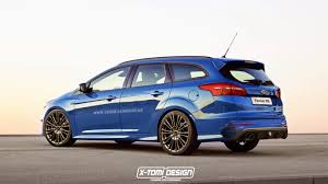 ford focus 2015 rs 2016 ford focus rs rendered as estate gtspirit