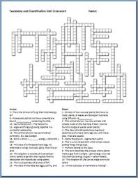 taxonomy and classification crossword puzzle by science from murf llc
