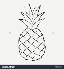 pineapple outline coloring page pineapple dm9547 110 pineapple