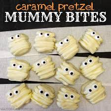 caramel pretzel mummy bites young at heart mommy