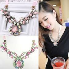 ebay necklace images Charm fashion jewelry pendant chain crystal choker chunky jpg