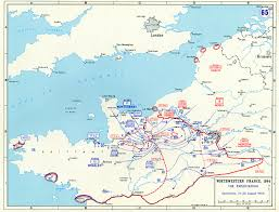 Maps France by Map Of The Exploitation Of Allied Positions In Northwestern France