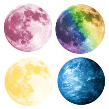 compare prices on luminous moonlight sticker online shopping buy 4 colors 3d luminous planet wall stickers world moonlight glow in the dark moon earth wall
