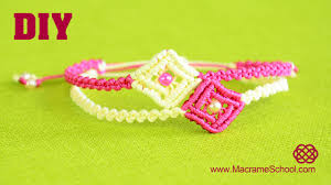 bracelet macrame patterns images Diy easy macram square bracelet tutorial jpg
