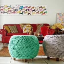 new life and color was infused into this eclectic living room