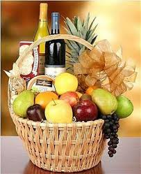 how to make fruit baskets wine fruit gift basket idea great for clients and to say thank