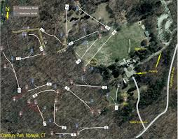 Norwalk Ohio Map by Cranbury Park In Norwalk Ct Disc Golf Course Review