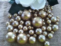 Vase With Pearls Champagne Pearls For Floating Pearl Centerpieces Jumbo Pearls