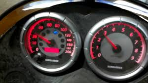 ski doo rev speedometer problem help youtube