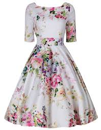 dress pink liana white and pink florals flare dress wings factory