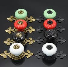 red kitchen cabinet knobs ceramic knobs dresser knobs drawer knobs pulls handles backplate