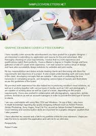 graphic designer cover letter example sample cover letters