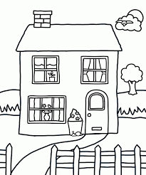 for kids download full house coloring pages 27 in line drawings