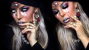 Gypsy Makeup Tutorial Halloween by Fortune Teller Halloween Makeup Tutorial Youtube