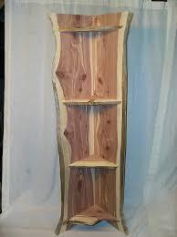 Live Edge Wood Shelves by Live Edge Cedar Corner Shelf Todd Want To Do Pinterest