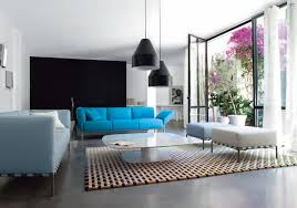 Pendant Lights For Living Room Interior Black Pendant Ls In Living Room With Blue Sofas