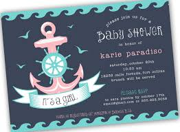 Nautical Theme Babyshower - nautical themed boy or neutral baby shower invite 4x6
