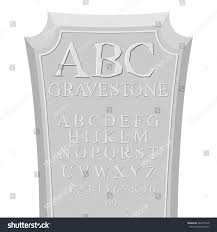 gravestone abc font tombstone alphabet rip stock vector 463675328