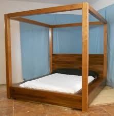 Wood Canopy Bed Platform Canopy Bed Bonners Furniture