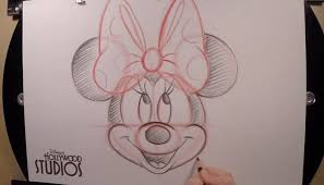 draw minnie mouse the disney blog