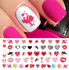 valentine u0027s day nail decals assortment 2 u2013 moon sugar decals