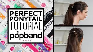pop bands hair ponytail tutorial with popband london