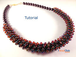 beaded seed bead necklace images Peyote stitch patterns necklace tutorial seed bead necklace jpg