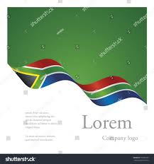 The New South African Flag New Brochure Abstract Design Modular Pattern Stock Vector