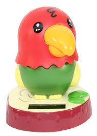amazon com dancing parrot bird solar toy car dashboard desk home
