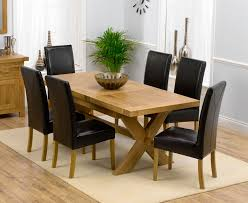 Dining Tables And 6 Chairs Solid Oak Extending Dining Table And 6 Chairs Delectable Decor