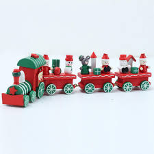 mengxiang wood train vehicles shape craft for christmasdecoration