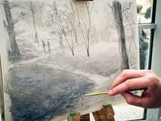 jason brockert gouache landscape paintings landscape