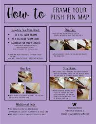 Pin World Map by Diy How To Frame A Push Pin World Map