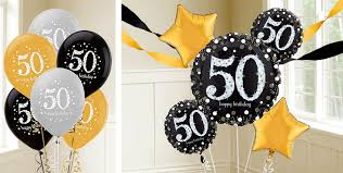 50 balloons delivered 50th birthday balloons party city