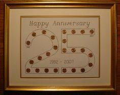 wedding anniversary gifts for each year use pennies with significant years for birthdays and our wedding