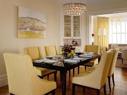 yellow leather dining room chairs chair slipcovers fabric wood