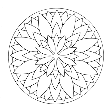 simple mandala 3 mandalas coloring pages for kids to print u0026 color